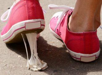 kauwgom weggooien