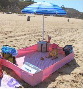 oud laken als strandmat