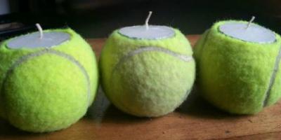 tennisbal kaars