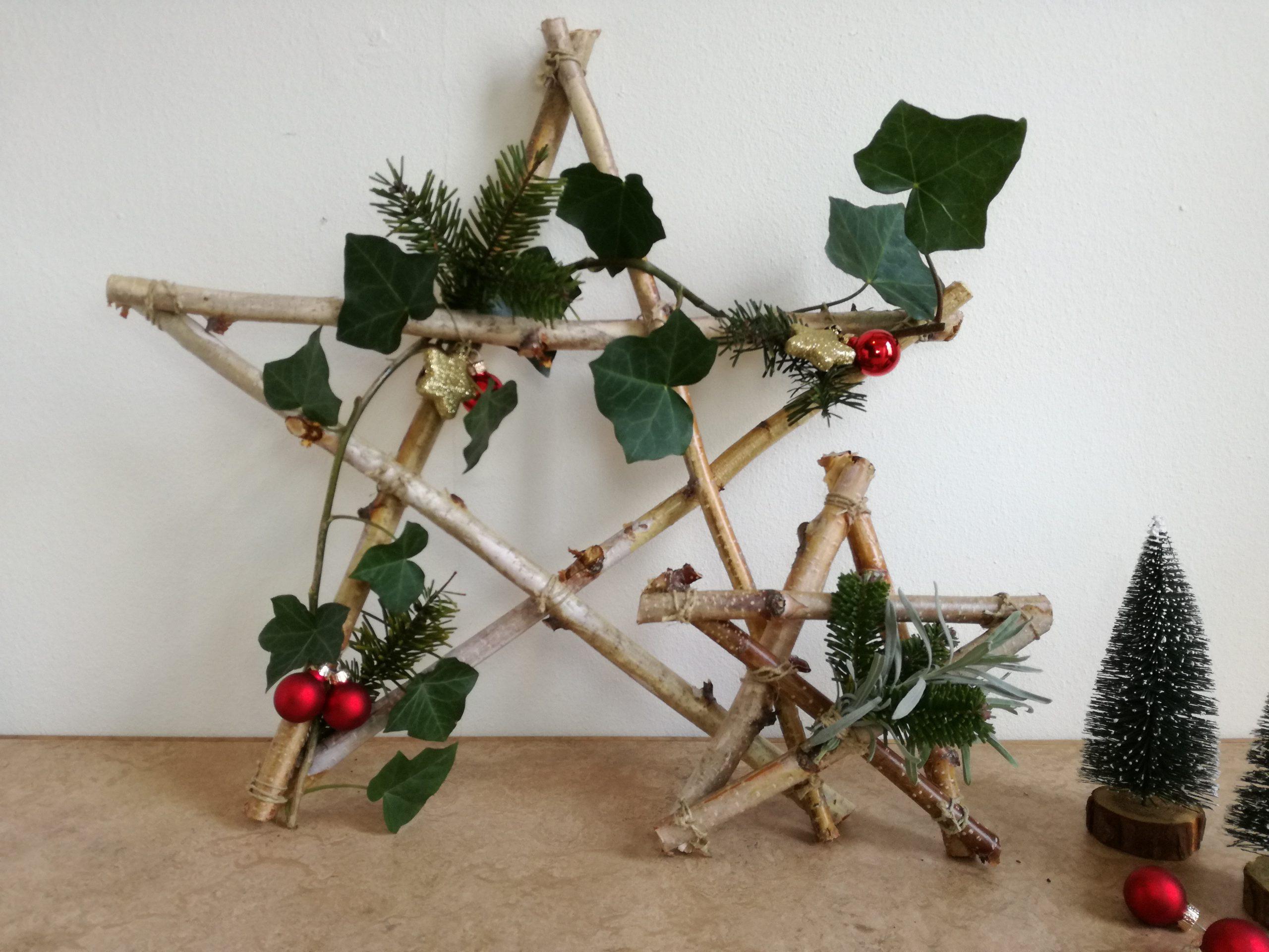 DIY kerstster eindresultaat
