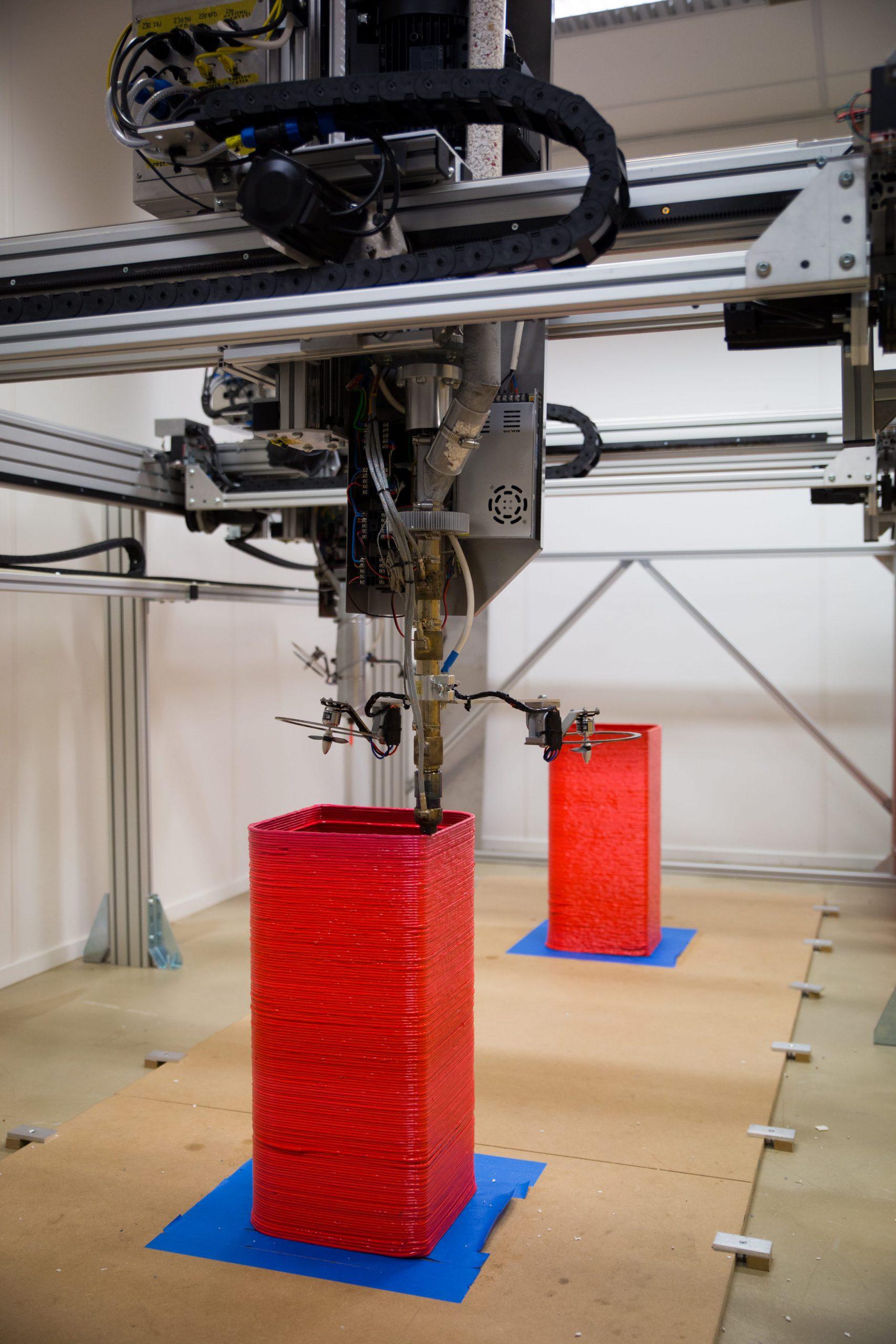 3d-printer print met gerecycled plastic van vanplestik