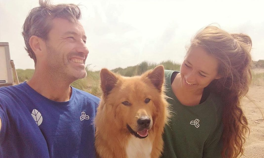 Daan en Steef met hond